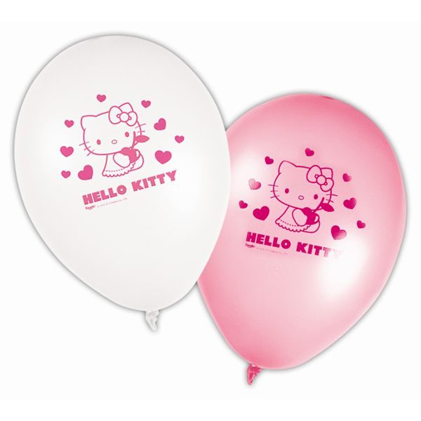 8 BALLONS LATEX HELLO KITTY