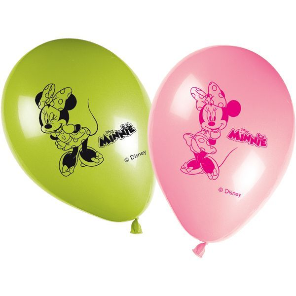 8 BALLONS LATEX MINNIE BOW