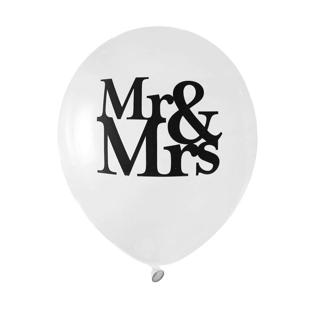 ballon latex mr and mrs mariage pas cher