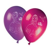 8 BALLONS LATEX PRINCESSE SOFIA