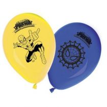 8 BALLONS LATEX SPIDERMAN WEB-WARRIORS