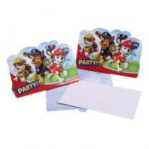 8 CARTES D' INVITATION PAW PATROL