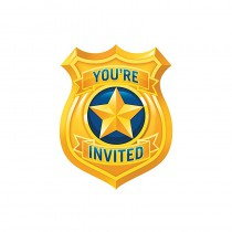 8 CARTES D\'INVITATION POLICE