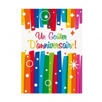 8 CARTES INVITATIONS ANNIVERSAIRE
