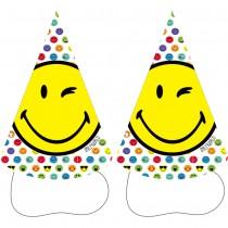 8 CHAPEAUX POINTUS SMILEY EMOTICONES