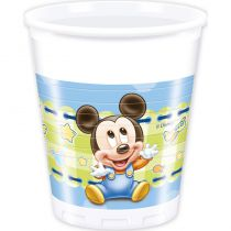 8 GOBELETS 20CL BABY MICKEY