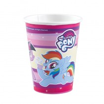 8 GOBELETS 250ML MY LITTLE PONY