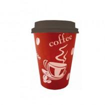 gobelet à café en carton jetable avec couvercle 35 cl