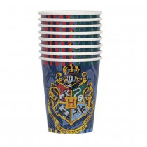 8 GOBELETS CARTON 27CM HARRY POTTER