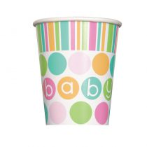 8 GOBELETS CARTON BABY SHOWER