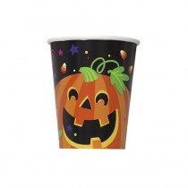 8 GOBELETS CITROUILLE HALLOWEEN 25CL