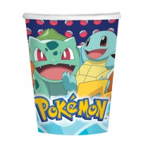 8 GOBELETS POKEMON 250ML