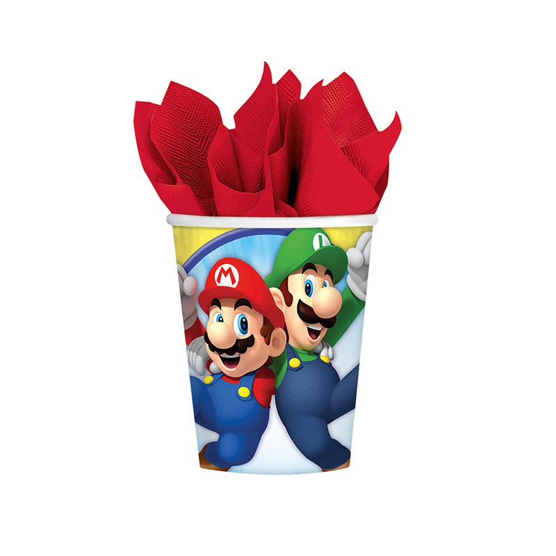 8 GOBELETS SUPER MARIO ™ 250 ML