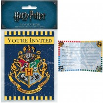 8 INVITATIONS CARTON HARRY POTTER + ENVELOPPE