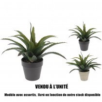 ALOE VERA ARTIFICIELLE EN POT 25CM