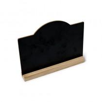 marque table ardoise sur socle en bois