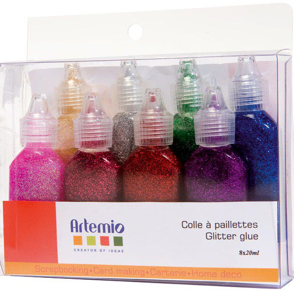 ARTEMIO 8X20ML COLLE PAILLETTE
