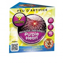 ARTIFICE COMPACT 9 COUPS PURPLE HEART