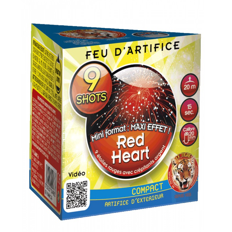 ARTIFICE COMPACT 9 COUPS RED HEART