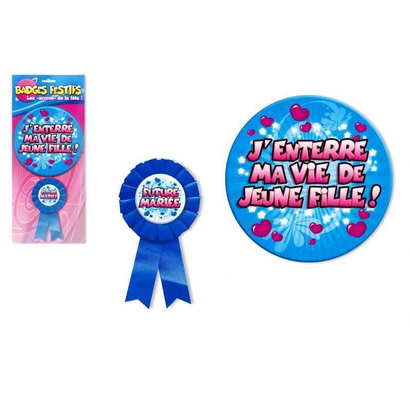 BADGE ENTERREMENT VIE DE FILLE