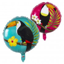 BALLON ALU 45CM HAWAÏ TOUCAN MULTICOLORE