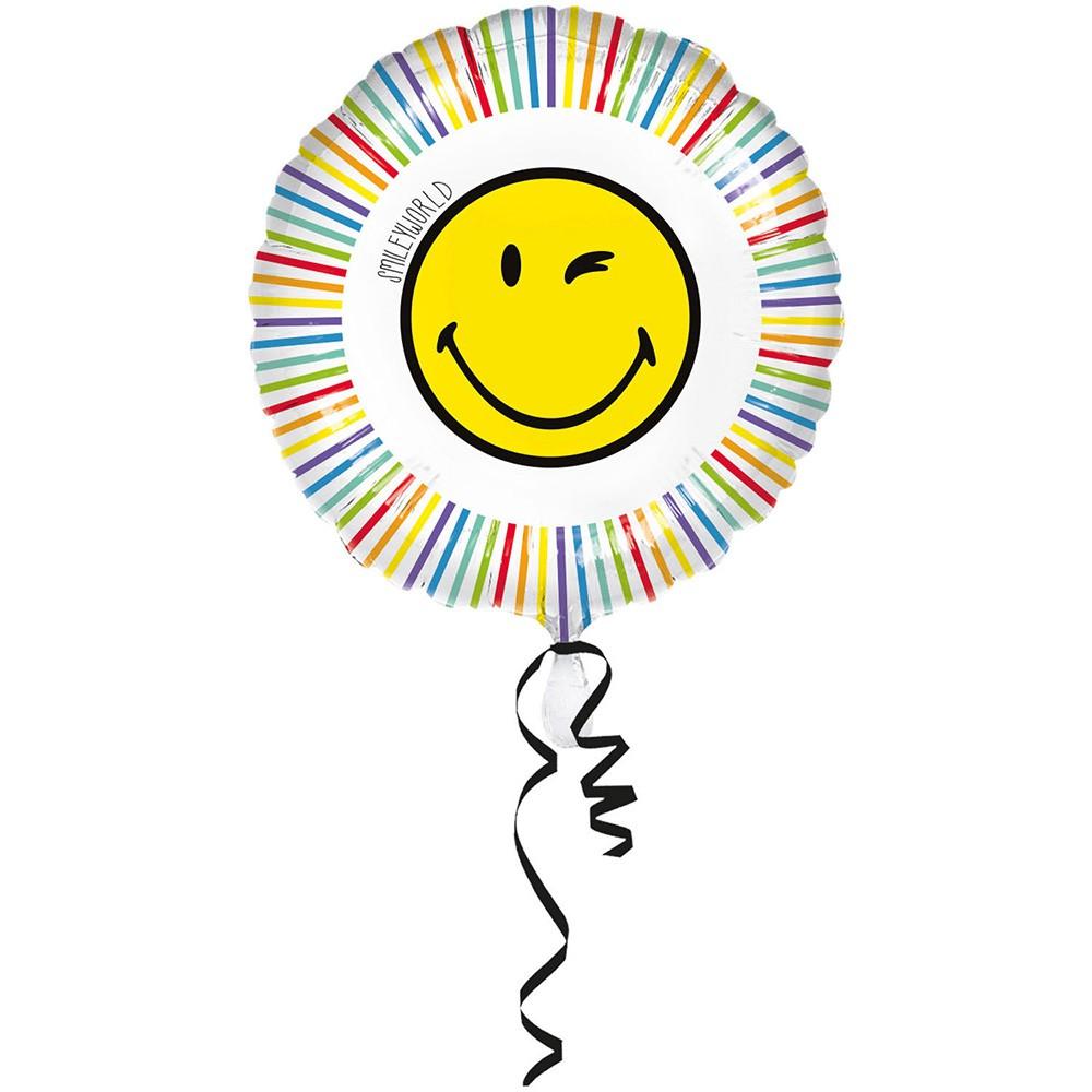 BALLON ALU 45CM SMILEY WORLD