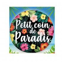 BALLON ALU COIN DE PARADIS 45CM