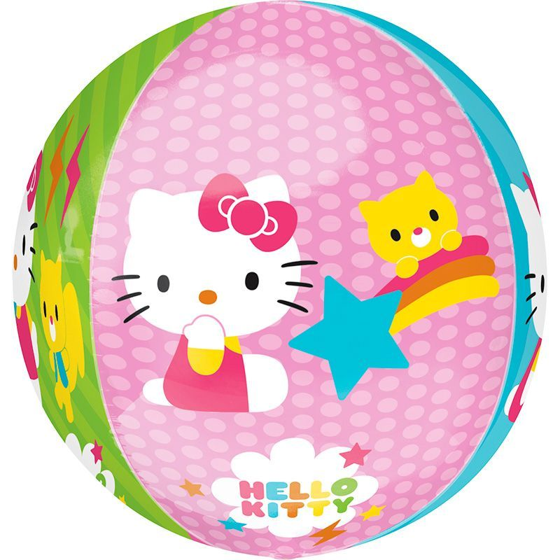BALLON ALU ORBZ KITTY + HÉLIUM