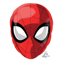 BALLON ALU TÊTE SPIDERMAN + HÉLIUM