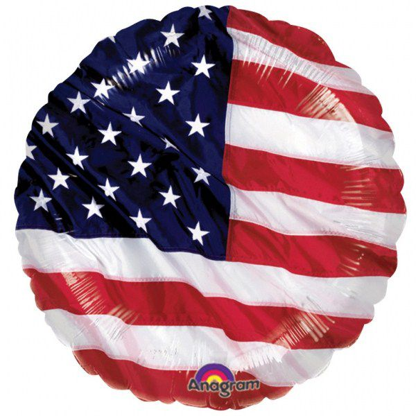BALLON ALU USA COLOURS 45CM + HÉLIUM