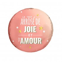 BALLON ALUMINIUM JOIE AMOUR ROSE GOLD 45CM