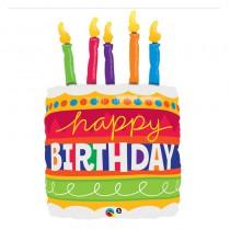 BALLON BIRTHDAY CAKE 89CM