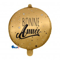 BALLON BONNE ANNÉE OR 48 CM