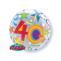 BALLON BUBBLE 22\' 40 ANS