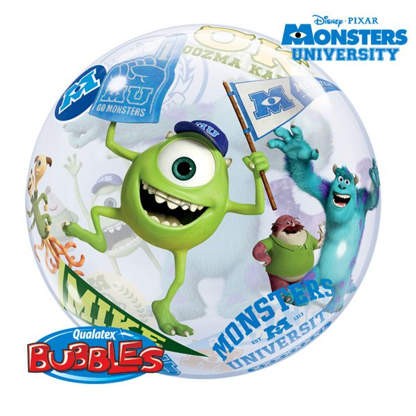 BALLON BUBBLE MONSTER UNIVERSITY + HÉLIU