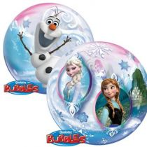 BALLON BUBBLE REINE DES NEIGES + HÉLIUM