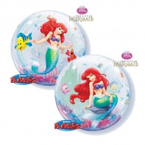 BALLON BULLE 55 CM LITTLE MERMAID