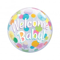BALLON BULLE BIRTHDAY 55CM BABY