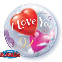 BALLON BULLE I LOVE YOU + HÉLIUM