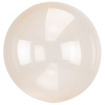 BALLON BULLE TRANSPARENT ORANGE