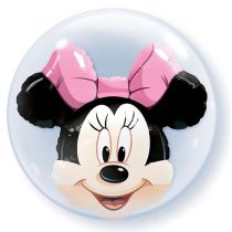 BALLON DOUBLE BULLE MINNIE + HÉLIUM