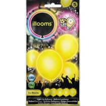 ballon latex led jaune