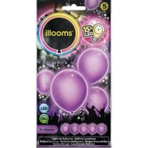 ballon latex led violet
