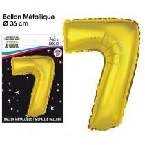 BALLON METALLIQUE OR CHIFFRE 7