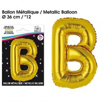 BALLON METALLIQUE OR LETTRE B
