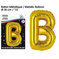 BALLON METALLIQUE OR LETTRE B