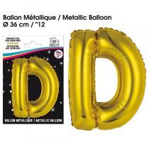 BALLON METALLIQUE OR LETTRE D