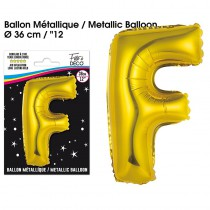 BALLON METALLIQUE OR LETTRE F