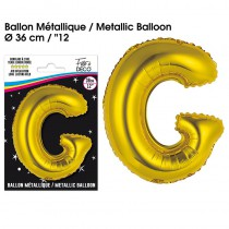 BALLON METALLIQUE OR LETTRE G