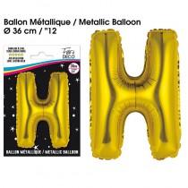 BALLON METALLIQUE OR LETTRE H